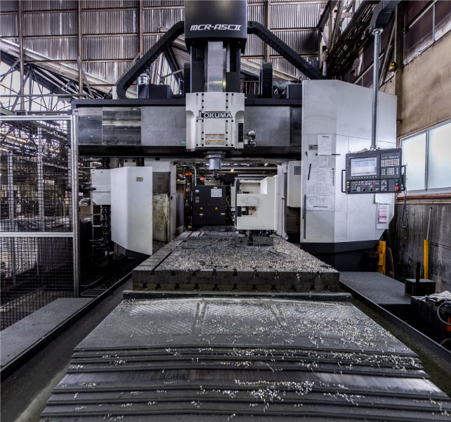 工作機械加工部門